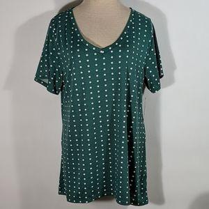 NWT Lularoe Christy T Green Size XL